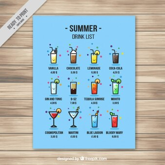 Funny summer drink list
