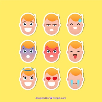 Funny variety of character stickers