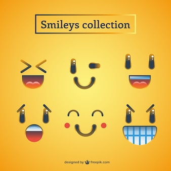 Funny variety of smileys