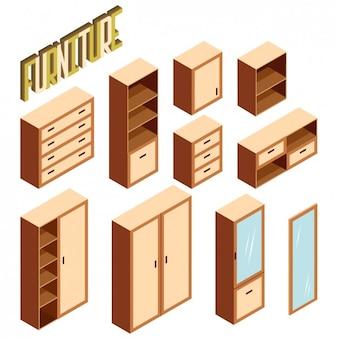 Furniture in perspective design