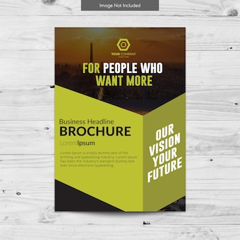 Futuristic business brochure design