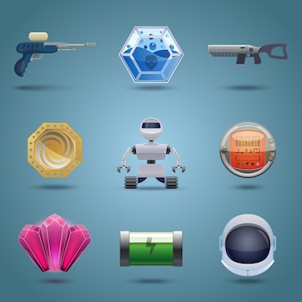 Futuristic icons collection