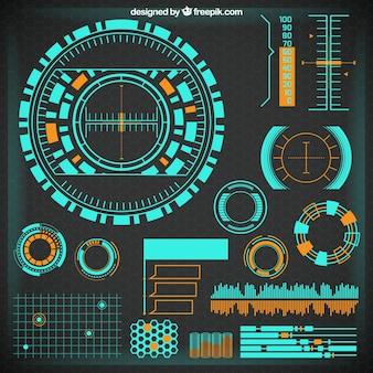 Futuristic infographic