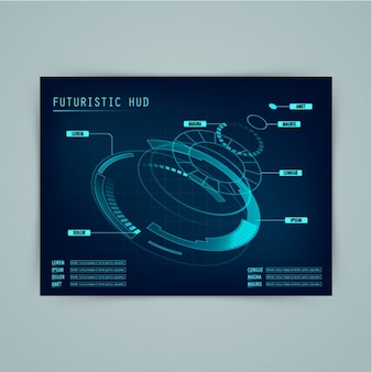Futuristic interface with round forms