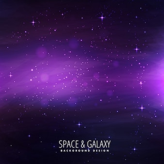 Galaxy background with purple lights
