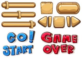Игровые кнопки: бары и стрелки