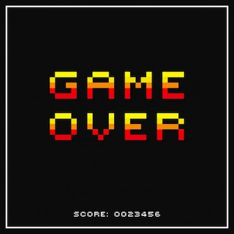 Game over pixelated background