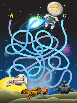 宇宙飛行士のゲームテンプレート