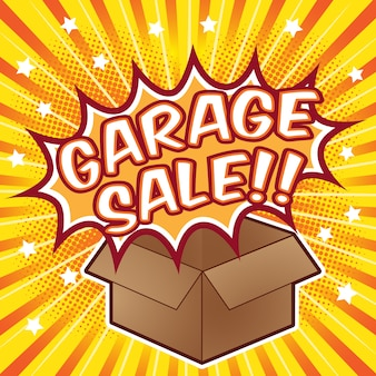 Garage sale background