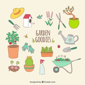 Garden vectors photos and psd files free download for Gardening tools vector