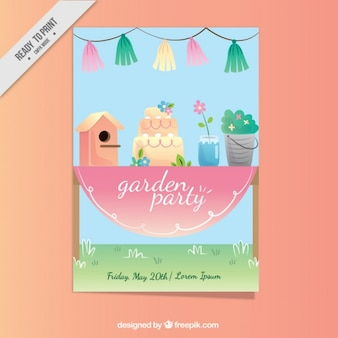 Garden party invitation design