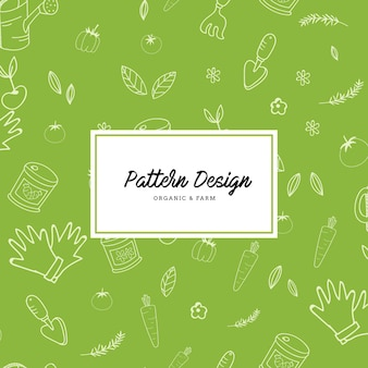 Gardening elements pattern background