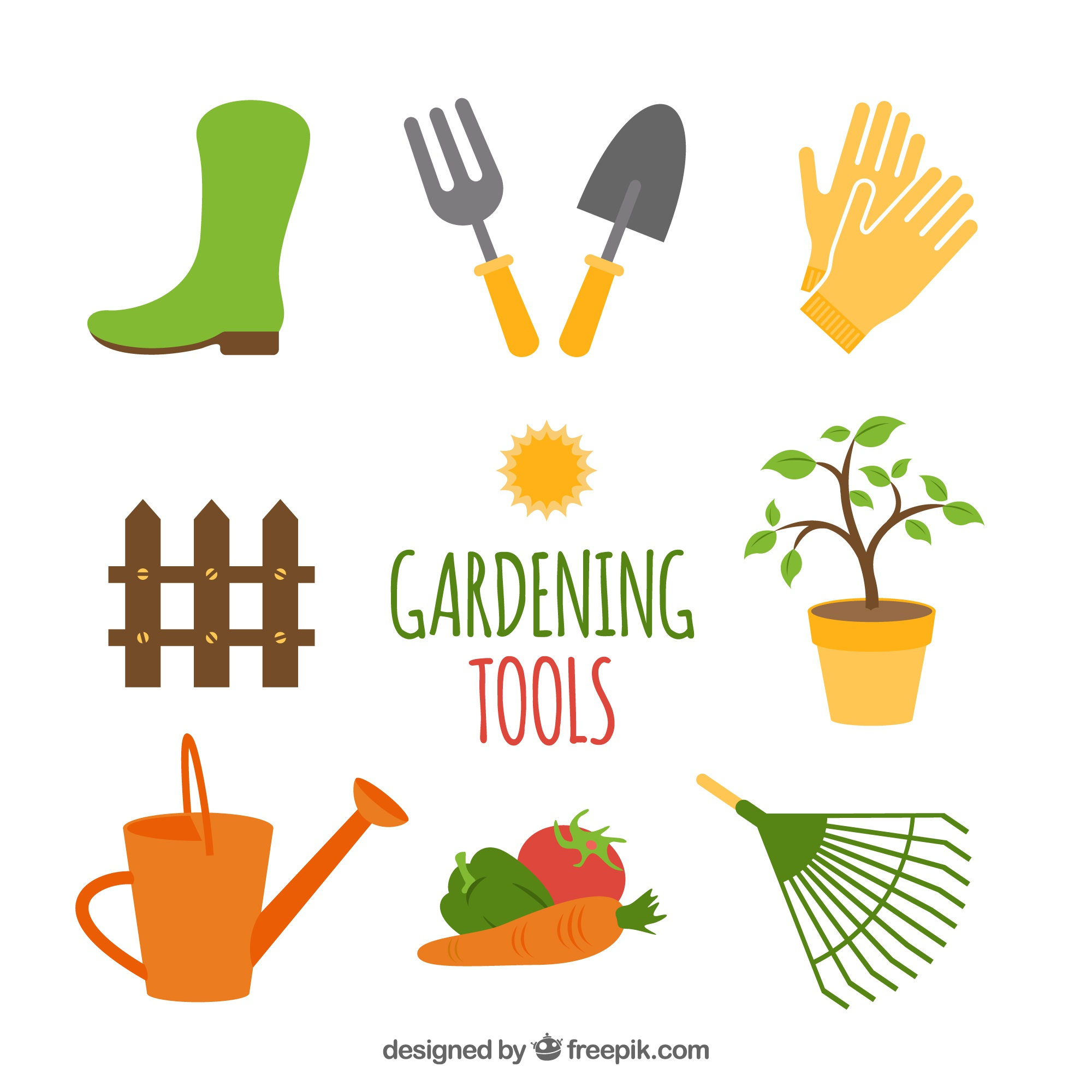 Illustrations vectors 16 600 free files in ai eps format for Gardening tools dictionary