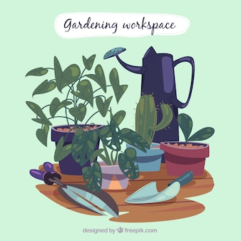 Gardening workspace background