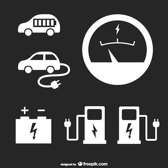 Gas stationicons set
