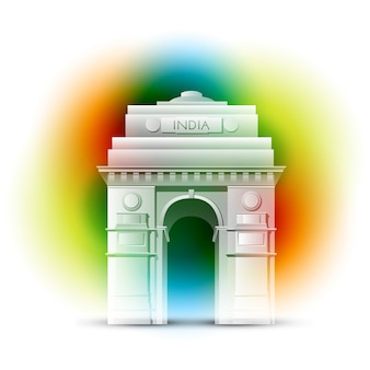 Gate of india design for indian independence day