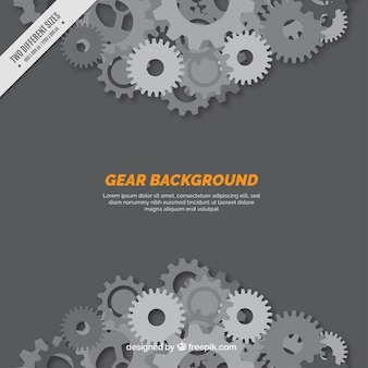 Gear background in grey tones