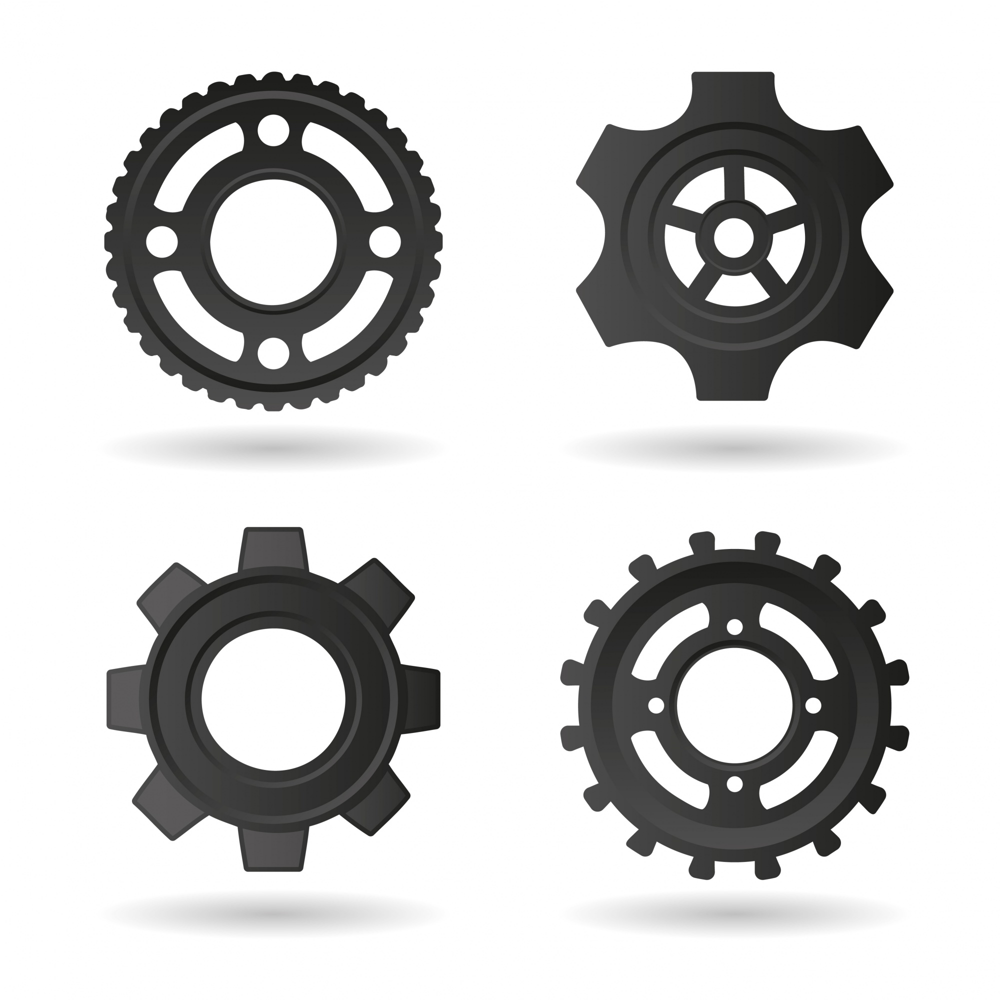 Gear icons collection