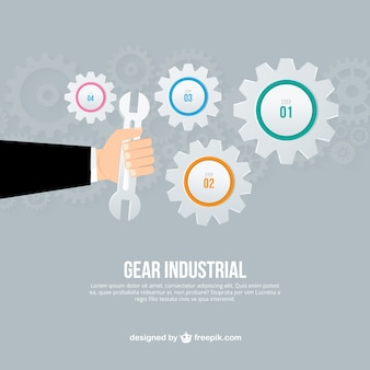 Gear industrial infographic