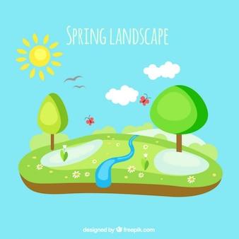 Geen spring landscape
