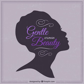 Gentle woman beauty