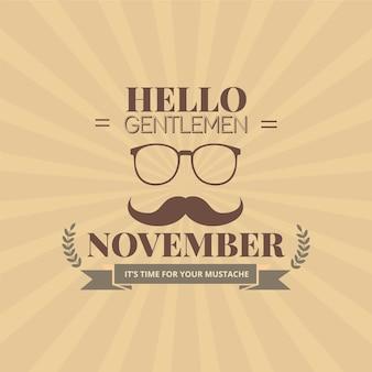 Gentlemen movember poster