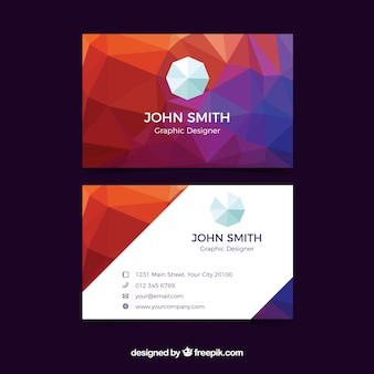 Geometric abstract business card