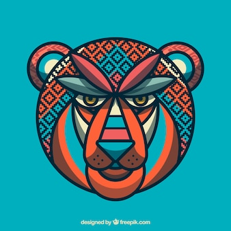 Geometric abstract lion