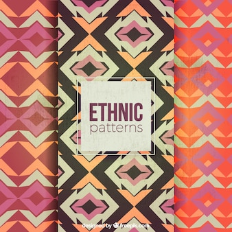 Geometric abstract patterns in ethnic style