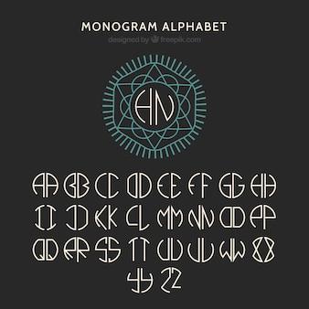 幾何学的アルファベットデザイン
