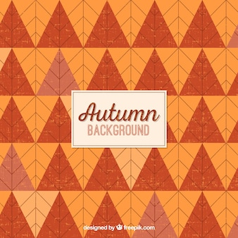 Geometric autumn background with trriangles
