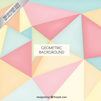 Geometric background in pastel colors
