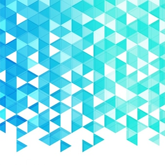 Geometric background of triangles in blue tones