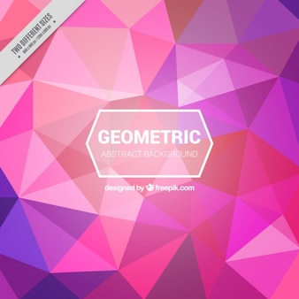 Geometric background with colorful polygons