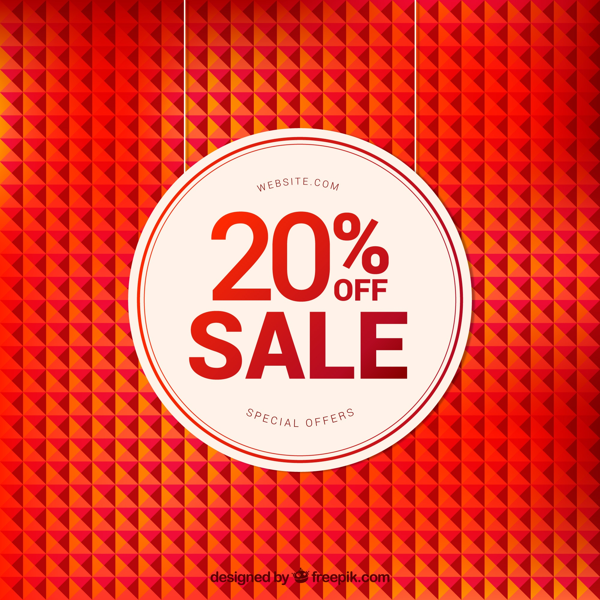 Geometric background with great discount