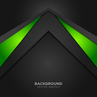 Geometric background with green details