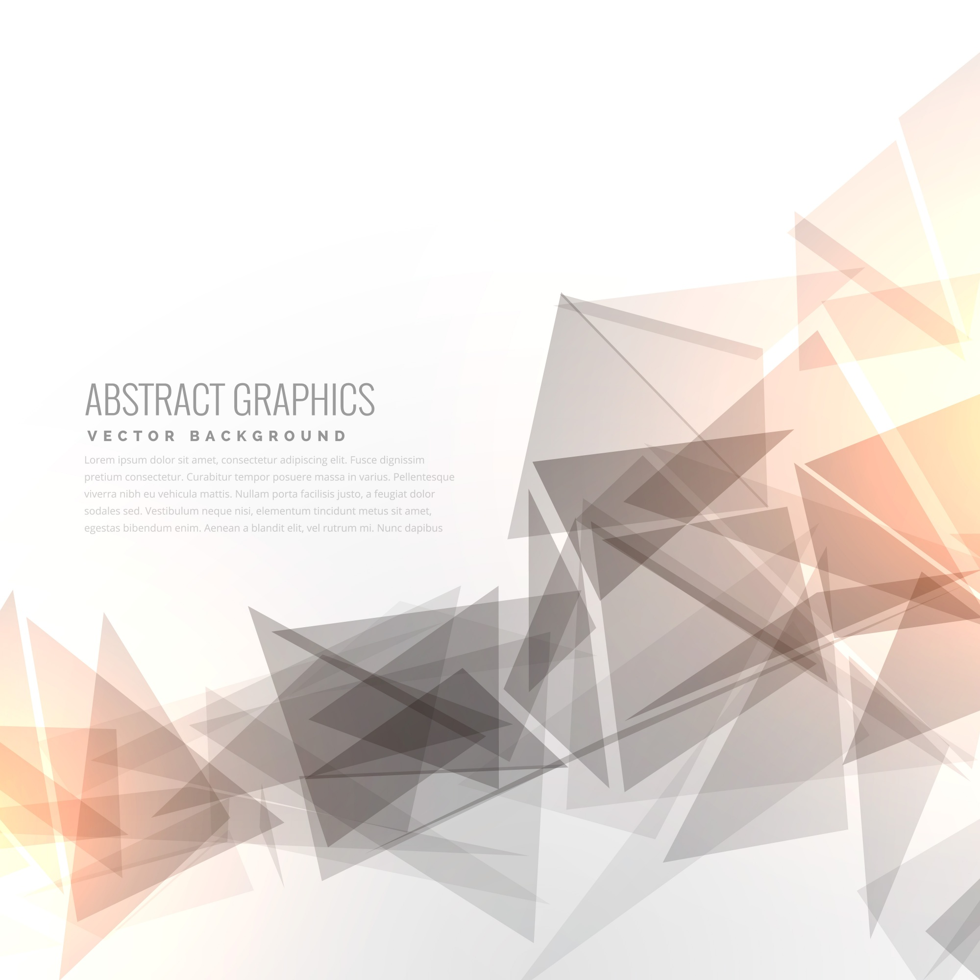 Geometric background with light effect