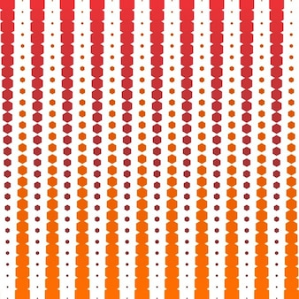 Geometric background with orange and red hexagons
