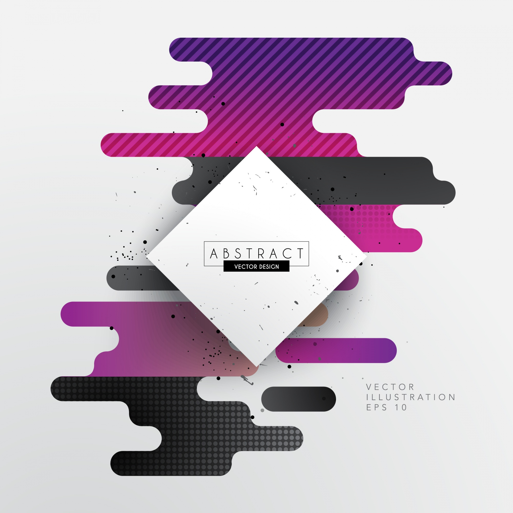 Geometric background with purple round shapes