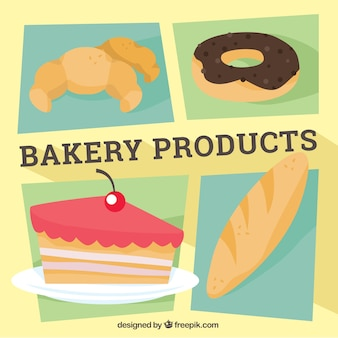 Geometric bakery products