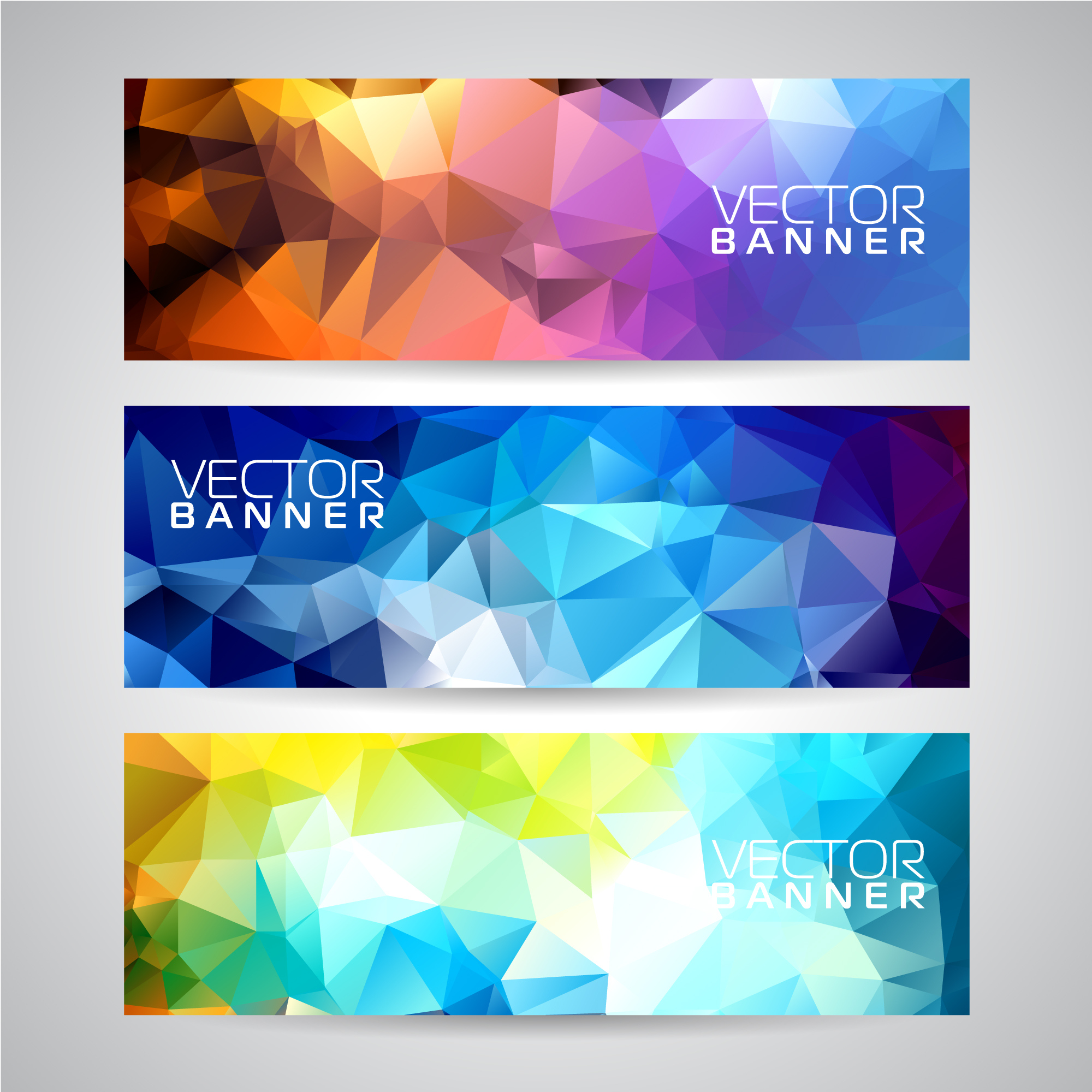 Geometric banner collection