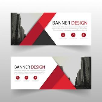 Geometric banner, red
