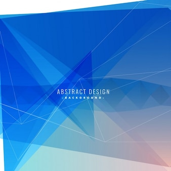 Geometric blue background with polygonal shapes