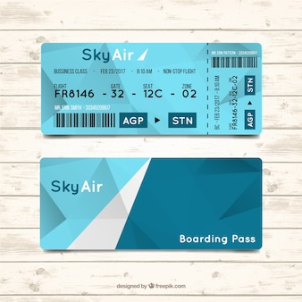 Geometric boarding pass