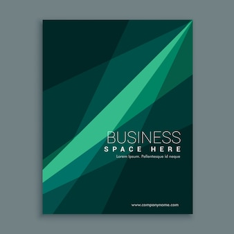 Geometric brochure with wavy shapes