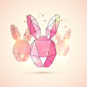 Geometric bunny background for easter