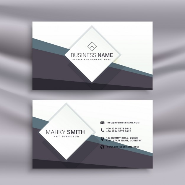 Geometric business card for business