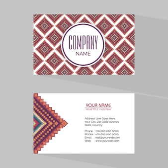 Geometric business card with square shapes