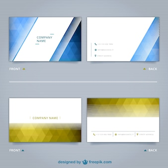 Geometric business cards pack