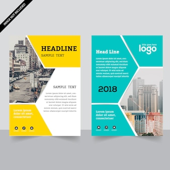 Geometric business flyer coollection